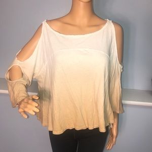 We the free women's small tan cut out shoulders